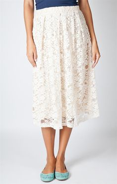 Lace Event Skirt