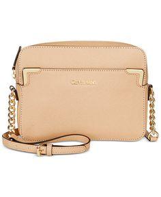 57d1ed3e078 Calvin Klein On My Corner Saffiano Crossbody   Reviews - Handbags    Accessories - Macy s