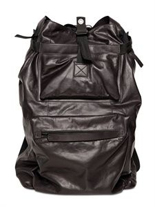 LANVIN - PAPER LEATHER AND NYLON LARGE BACKPACK - LUISAVIAROMA - LUXURY SHOPPING WORLDWIDE SHIPPING - FLORENCE $1,995