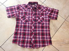 Mens vintage top wetern plains trading co plaid by ZOEYSVINTAGE