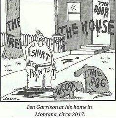 Ben Garrison at his home in Montana, circa 201 - iFunny :) Ben Garrison, Gary Larson, Oregon Usa, Urdu News, Virgil Abloh, Pakistan News, Cartoon Art Styles, Popular Memes, Montana