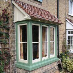 Bay Window Exterior, Cottage Exterior, Casement Windows, Windows And Doors, Bay Window Design, Victorian Windows, Bath Window, Cottage Windows, Contemporary Cottage