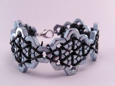Steampunk hexagonal Tuerca Hardware 7 pulgadas pulsera                                                                                                                                                                                 Más