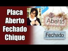 COMO FAZER PLAQUINHA ABERTO FECHADO CHIQUE! PINTANDO COM O ❤ AULA 11 COM TÂNIA MARQUATO - YouTube
