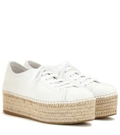 0eed344fc3c77 Miu Miu - Espadrille-Sneakers aus Leder - Das italienische Luxuslabel Miu  Miu vereint in