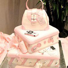 Pink Purse Quinceañera Cake