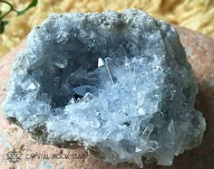 Hard to find fairy celestite cluster with lots of clear points! Use this crystal t help you connect with your angels and sprit guides: http://etsy.me/1COkce1 #crystalhealing www.crystalrockstar.etsy.com