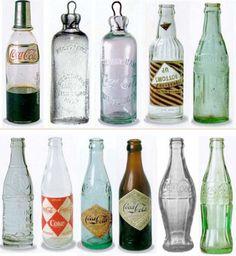 Inspiração & Photoshop: Garrafas historicas da Coca Cola