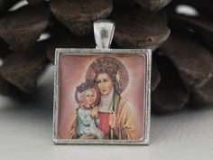 St. Anne  Catholic Christian Medal Pendant Patron Saint by ElDotti