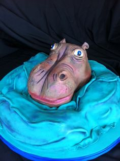 Hippo groom's cake www.sublimebakery.com