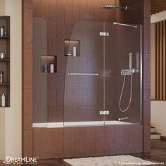 Aqua Ultra Hinged Tub Door with Extender Panel - Dreamline