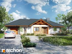 Dom w leszczynowcach 5 House Front, Home Fashion, New Homes, Cabin, House Styles, Houses, Home Decor, Curb Appeal, Home Layouts