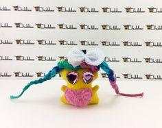 Little Pie, Mini Chubbee Keychain, plush creature by LondonsKingdom on Etsy