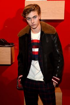 Lucky Blue | Attends Hilfiger Edition Fall 2017 Presentation on January 10, 2017 in Florence, Italy ❤