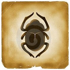 Egyptian Symbol: Scarab. A Symbol of Creation, Strength and Transformation. The Scarab personified the god, Khepri, a sun god associated with resurrection. As such, the large winged scarab and the heart scarab were considered good luck beetles and placed on mummies for protection against evi