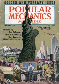 I read and collect lots of old books and magazines - Popular Mechanics from the ROCK Vintage Movies, Vintage Posters, Eddie Rickenbacker, Magazine Images, Magazine Covers, Mad Movies, Science Fiction Magazines, Popular Mechanics, Old Ads