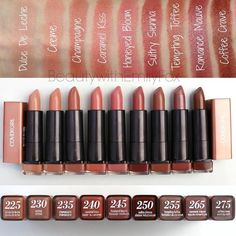 #Swatches of the @Covergirl Colorlicious Lipstick Collection! NUDES (1/4) Giveaway Rules: -Follow me @BeautywithEmilyFox -Regram the post with your favorite color and hashtag your selected shade with the Covergirl handle (example: @Covergirl #SultrySienna) -North America only -Contest winner packages will be distributed by November 13 2015 -Don't forgot to subscribe to my Youtube channel Beauty with Emily Fox There will be 15 winners! ONE participation per person. Choose ONE colour (in…