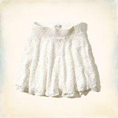 Pebbly Beach Lace Skater Skirt