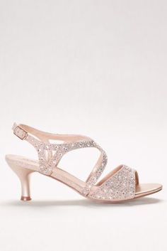 """A low-level heel makes these sparkling-strap sandals a dance-all-night option.   By Blossom  Synthetic  2.25"""" heel  Adjustable buckle  Imported"""