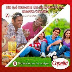 ¿En cuál de estos 2 momentos del día quisieras disfrutar de una panelita? ¡Diviértete con Copelia!