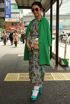 Tokyo Fashion Week street style Fall 2015 [Photo by Onnie A. Koski]