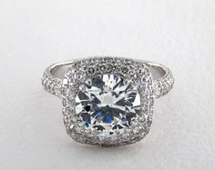Double Cushion Halo Pave Engagement Ring in White Gold (Setting Price) Engagement Ring Buying Guide, Engagement Rings Cushion, Engagement Sets, Perfect Engagement Ring, Engagement Ring Styles, Designer Engagement Rings, Solitaire Engagement, Platinum Ring Price, Traditional Engagement Rings