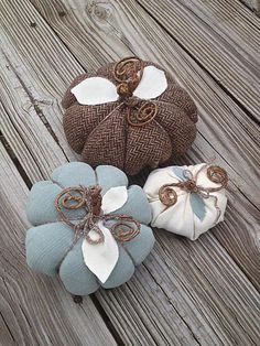 DIY Tutorial: DIY Accessories / DIY Stuffed and sewn fabric pumpkins - Bead