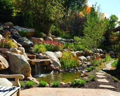 Hillside landscaping idea... ♥♥♥ the giant boulders!