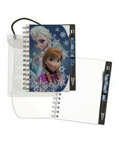 Love this Frozen Notebook & Pen Set by Frozen on #zulily! #zulilyfinds