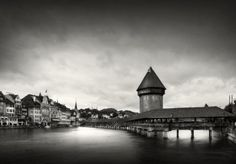 Lucerna , Luzern by farhado on YouPic Photo Black, Places To Travel, Louvre, Black And White, Building, Photography, Profile, Photos, User Profile