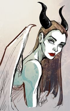 I know this is Maleficent, but I just keep seeing Magrigal from the Daughter of Smoke and Bone series