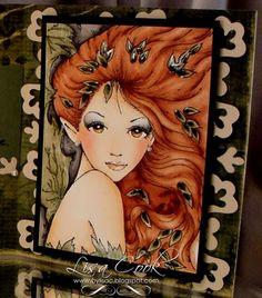 Copic Markers  Skin tones-yr0000, e000, e30, e21  Eyes-yr23, e13, e35, w00, w1, w3, w5  Wings/leaves-yg91, yg93, yg95, yg97  Lips-r00, r11  Miranda's Hair (blonde)- e40, e41, e42, e43  Katie's Hair (red)-e13, e15, e17, e19