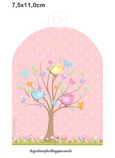 This would make a beautiful card front Diy And Crafts, Paper Crafts, Bird Party, Baby Shawer, Country Paintings, Printable Stickers, Baby Stickers, Baby Cards, Decoupage