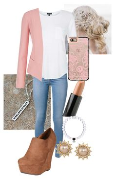 """""""Working w/ Style."""" by harrystylesec ❤ liked on Polyvore featuring Jaeci, Topshop, maurices, Breckelle's, NYX, Casetify, Everest and Carolee"""
