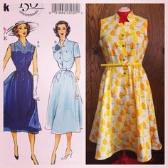 Butterick repro pattern B5920, from 1951 With *some* alterations.
