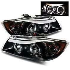 05-08 BMW E90 Sedan Halo Projector Headlights - Black