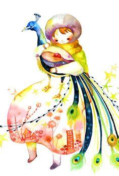 [일러스트] 築地麻衣 (츠키지 마이)님의 어린이의 순수함과 따뜻한 색감이 돋보이는 수채화 일러스트 2편 :: 네이버 블로그 #Illustration