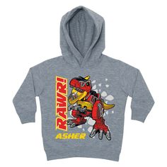 Power Rangers Dino Charge T-Rex Gray Toddler Hoodie - Hoodies & Sweatshirts - Clothing | Tv's Toy Box