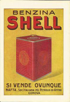 Vintage Italian Posters ~ #illustrator #Italian #posters ~ Shell, 1921