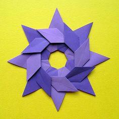 Origami, diagrams: Stella ghirlanda – Star garland. Designed by Francesco Guarnieri, December 2010.