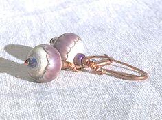 Purple & Copper Earrings lavender bohemian jewelry boho lamp #specialTweek
