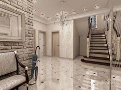 холл-лестница в частном доме