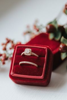 Red Mrs Box and ring.