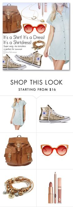 """It's a Shirt! It's a Dress! It's a Shirtdress!"" by dressedbyrose ❤ liked on Polyvore featuring GUESS, Converse, Fendi, Lizzy James, Dolce Vita and shirtdress"