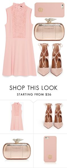 """""""street style"""" by sisaez ❤ liked on Polyvore featuring Zara, Aquazzura, Diane Von Furstenberg and Tory Burch"""