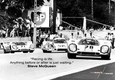 Steve McQueen was born to race. http://blog.themanlemans.com/?utm_source=pinterest&utm_medium=breed%20pinterest&utm_content=Racing%20is%20life%20meme&utm_campaign=Quote%20memes #McQueen #SteveMcQueen #TheManLeMans #LeMans #LeMans24Hours #film #movie #cinema #racetrack #car #supercar #classiccar #vintage #70sfilm #Porsche #Ferrari