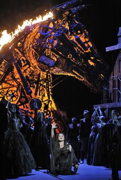 Les Troyens, 2014-2015. The production was exciting -- costumes a bit strange, but singers, music and sets all great!