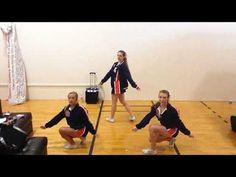 Hip Hop Choreography: Allison B. Pom Dance Choreography: Camille K. Easy Cheer Stunts, Cheerleading Tryouts, Cheerleading Cheers, Cheer Coaches, Basketball Cheers, Team Cheer, Cheer Dance Routines, Cheer Moves, Cheer Captain
