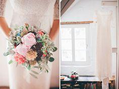 Hochzeit im Vintage Look. Brautkleid DIY.