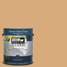 Behr Premium Plus Ultra 1 Gal Ppu14 20 Starless Night Semi Gloss Enamel Interior Paint Blues